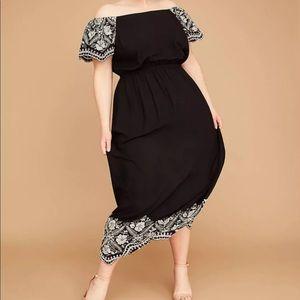 Lane Bryant Off-the-shoulder Embroidered Dress